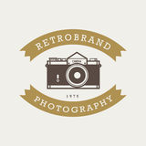 Vintage hipster badges and labels Royalty Free Stock Photography