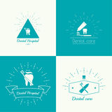 Vintage hipster banners, insignias, radial sunbusrt with tooth. Royalty Free Stock Images