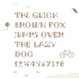 Vintage hipster geometric font Stock Photos
