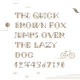 Vintage hipster geometric font Stock Photos