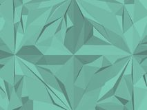 Vintage Hipster Geometric Green Pattern Vector Stock Image