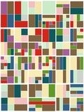 Vintage Hipster Geometric Pattern In Tetris Style Vector Royalty Free Stock Photos