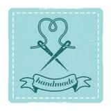 Vintage hipster handmade emblem design. Vintage retro hipster handmade emblem badge design style. Vector illustration Stock Image