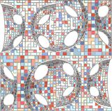 Vintage Hipster Mosaic Geometric Pattern Background Vector Stock Photo