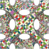 Vintage Hipster Mosaic Geometric Pattern Background Vector Stock Photos