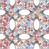 Vintage Hipster Mosaic Geometric Pattern Background Vector Stock Photography