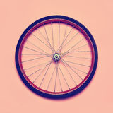 Vintage hipster photo bicycle wheel. Abstract minimalism concept Stock Photography