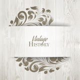 The vintage history card Stock Photos