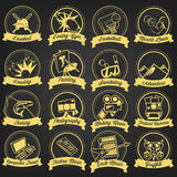 Vintage Hobby Label Set vector illustration