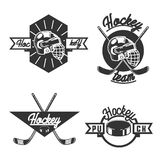 Vintage Hockey emblems Royalty Free Stock Photos