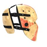 Vintage hockey mask on white. 3D illustration Stock Photos