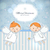 Vintage holiday card design Royalty Free Stock Photography