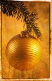 Vintage Holiday Card Stock Photography