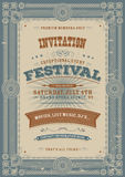 Vintage Holiday Festival Invitation Background royalty free illustration