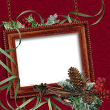 Vintage  holiday frame Stock Image