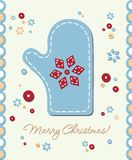 Vintage holiday patchwork card Stock Photos