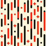Vintage holiday pattern. Vector seamless festive pattern with lines, stars, flashes, rounded corners. Parallel vertical lines pattern. Pattern background Stock Photography