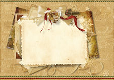 Vintage Holiday's greeting card Royalty Free Stock Photos