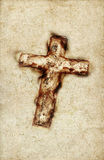 Vintage holy  cross. Vintage Holy Cross on a grunge paper / wall background Royalty Free Stock Photo