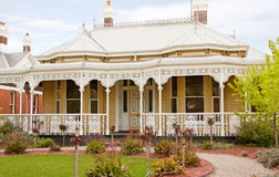 Vintage home. A vintage Victorian home and front garden Stock Photo
