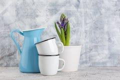 Vintage home arrangement, soft pastel colors. Royalty Free Stock Photos
