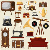 Vintage home furniture and accessories. Royalty Free Stock Photography