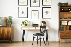 Vintage home office interior Royalty Free Stock Photo
