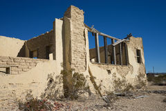 Vintage home ruins in abandoned ghost town. Building ruins in the abandoned ghost town of terlingua texas Stock Photography