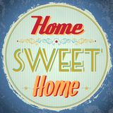 Vintage Home Sweet Home Sign Stock Photos