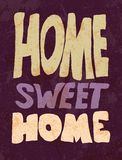 Vintage Home Sweet Home Sign - Vector EPS10. Royalty Free Stock Photography