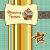 Vintage homemade cupcakes poster Royalty Free Stock Photos