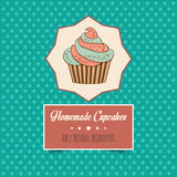 Vintage homemade cupcakes poster Stock Photography