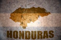 Vintage honduras map Stock Photos