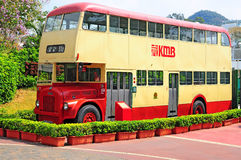 Vintage hong kong bus Stock Photo