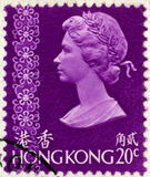 Vintage Hong Kong Postage Stamp foto de stock royalty free