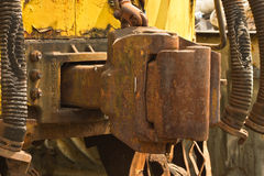 Vintage hook and link train coupling joint Stock Photography