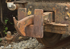 Vintage hook and link train coupling joint Royalty Free Stock Image