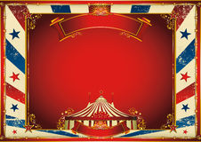 Vintage horizontal circus background with big top stock illustration