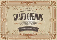 Vintage Horizontal Invitation Background Royalty Free Stock Images