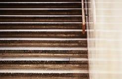 Vintage horizontal jaggies stairs backdrop Stock Images