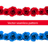 Vintage horizontal seamless vignette border set vector illustration