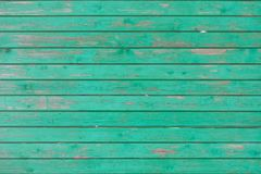 Vintage horizontal wooden planks painted with green colour Stock Photography