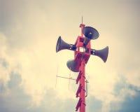 Vintage horn speaker Royalty Free Stock Image