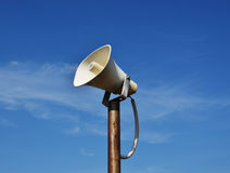 Vintage horn speaker for public relations Royalty Free Stock Photography