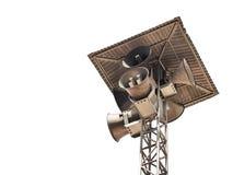 Vintage horn speaker tower Stock Photos