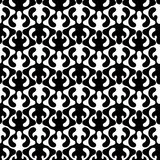 Vintage Horns Wallpaper Seamless Pattern. Black and white vintage damask elk horns seamless background pattern. Abstract texture wallpaper Stock Image