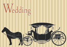 Vintage horse carriage Stock Images
