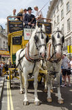 Vintage horse-drawn bus Royalty Free Stock Photo