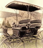 Vintage Horse-Drawn Carriage in Rural Virginia Stock Image