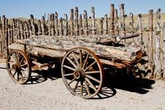 Vintage horse log hauling wagon Stock Photography